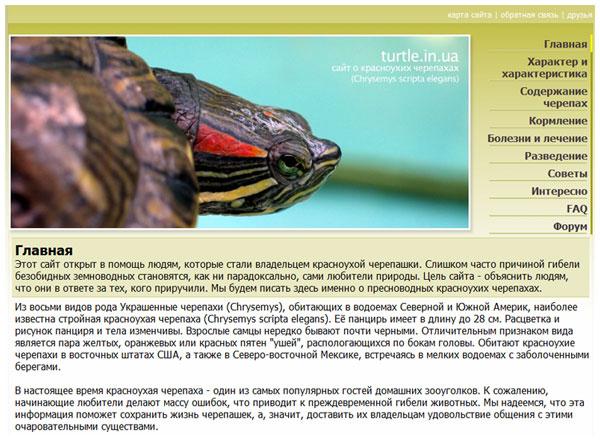 Красноухая черепаха особенности